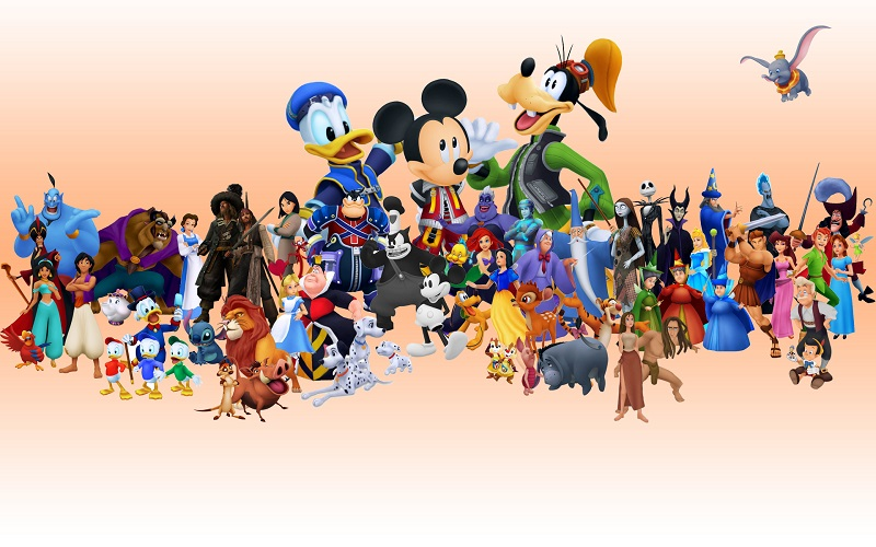 A collection of different Disney characters
